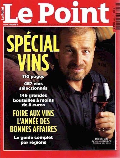 """Christophe Curtat """"spécoial vin"""" Le Point 2010"""